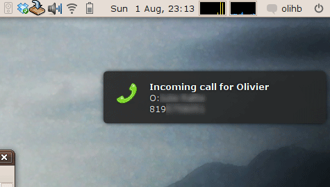 Incoming call popup under Ubuntu and Asterisk – Olivier H